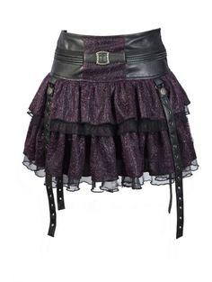 Black and purple skirt.