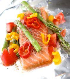 Salmon Asparagus Foil Packets