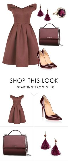 Class by shaimaa-el-shamy on Polyvore featuring Chi Chi, Christian Louboutin, Givenchy, Kate Spade and Accessorize