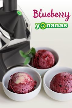 Blueberry Banana Yonanas is so good you may decide to have this 100% Fruit Dessert for breakfast! Why not? It's just Fruit!