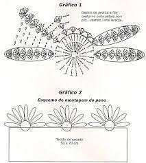 graficos de flores de croche - Pesquisa Google