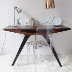 MCM Desk & Acrylic Chair