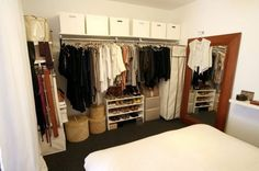 Open Closets In Small Spaces