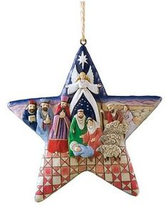 Nativity Scene Christmas Ornaments
