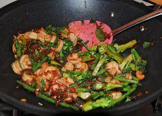 kaffir lime & thai basil pork stir fry