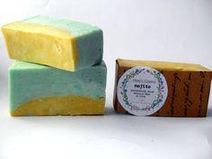 Mojito Soap Moroccan Mint and Citrus Handmade by MesysOrganics Vegan Soap, Palm Oil, Mojito, Moroccan, Mint, Handmade Gifts, Food, Kid Craft Gifts, Craft Gifts