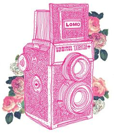 #vintage #lomo #drawing #art #camera #lubitel