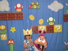 Super Mario hermanos Photo Booth Props Decor por LMPhotoProps