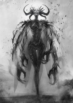 Ilustraciones de personajes femeninos (fantasía, dark)