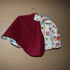 Monster Jam red corduroy cape with hoodie-style hood from B's Bounty for $50.00