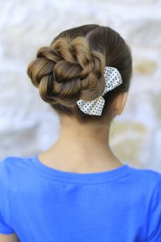 Rope Twisted Bun | Cute Girls Hairstyles