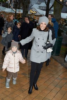 "Prince Joachim, Princess Marie, Prince Henrik and Princess Athena visited the christmas musical show on ""Stjernedrys og Nissekys"" at the Glass Hall on December 5, 2015 in Tivoli, Copenhagen."