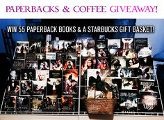 Win 55 Paperback Books and a Starbucks Gift Basket in our BOOKS & COFFEE Giveaway!