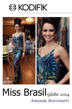Miss Brasil Globo 2014 Amanda Benvenutti usa Kodifik