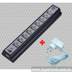 Régua USB + Fonte 5 volts 2 amperes