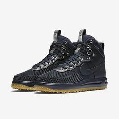 NIKE LUNAR FORCE 1 DUCKBOOT DARK OBSIDIAN 805899-400 #Nike #AthleticSneakers