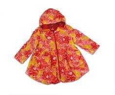 Children's Coats – Floral Summer Spring Balloon coat sz 3T EU 92 cm – a unique product by Stoffenjunkie on DaWanda