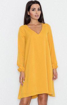 e11997b4cd Figl M566 sukienka żółta - Modne sukienki damskie - Sukienki sylwestrowe  2018 - Figl sukienki - Sklep