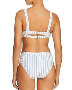 5aa35cba3b42 Splendid - Stormy Story Bralette Bikini Top & Stormy Story High-Waist Bikini  Bottom High