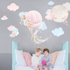 Hey, I found this really awesome Etsy listing at https://www.etsy.com/listing/234289765/hot-air-balloon-fabric-decal-wall