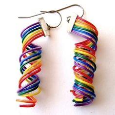 DNA spiral earrings made of wires <3