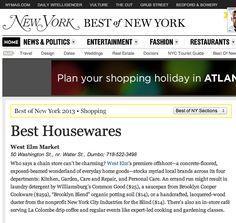 NY Magazine Award for West Elm Market | 2013