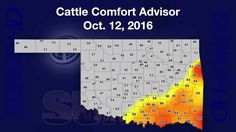 Mesonet Weather (10/15/16) Al Sutherland analyzes this week's temperature shift, the Cattle Comfort Advisor and 30-day rainfall totals.