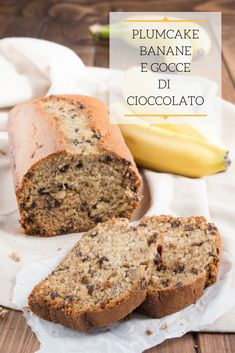 Italian Cake, Plum Cake, Cupcakes, Italian Recipes, Banana Bread, Muffin, Good Food, Sweets, Vegan