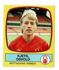 Kjetil Osvold of Nottingham Forest - Footbal 88 - Panini - English & Scottish Leagues Nottingham Forest, Football Season, Seasons, Baseball Cards, Seasons Of The Year
