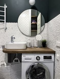 Bathroom Design Luxury, Bathroom Design Small, Simple Bathroom, Bathroom Layout, Modern Bathroom, Camper Interior Design, Small Space Interior Design, Laundry Room Design, Laundry In Bathroom
