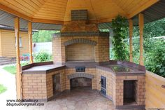 Simple Outdoor Kitchen, Outdoor Kitchens, Outdoor Living, Outdoor Decor, Barbacoa, Swimming Pools, Backyard, Rustic, Modern
