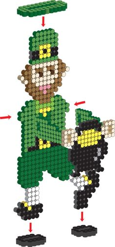 <p>Our lucky leprechaun promises good fortune at the end of the rainbow. This 3-D fellow is fun and easy to create with Perler beads!</p>