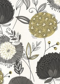 decor ideas modern decor ideas yellow and gray ideas for . decor ideas modern decor ideas yellow and gray ideas for valentines day Surface Pattern Design, Pattern Art, Textures Patterns, Print Patterns, Papier Paint, Cheap Rustic Decor, Textiles, Flower Power, Floral Design