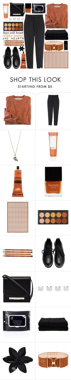 """PLACES I HAD NEVER BEEN"" by glowing-eyes ❤ liked on Polyvore featuring H&M, Alex Monroe, Korres, Aesop, Butter London, Surya, The Row, Maison Margiela, Home Source International and ASOS"