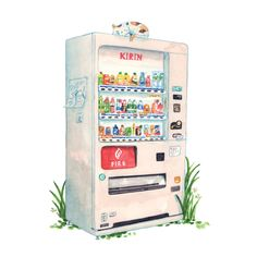 Image result for vending machine illustration