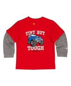 Carhartt Fiery Red Heather Tough Force® Layered Tee - Infant & Toddler | zulily