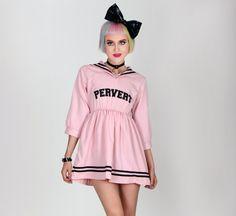 PERVERT | Baby Pink Anime Sailor Dress // Free Shipping!