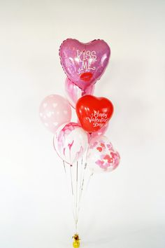 It's all about Hearts ♡ Valentine Day Kiss, Heart Balloons, Event Services, Balloon Bouquet, Gal Pal, Red And White, Hearts, Messages, Phone Backgrounds