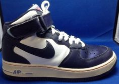 Nike-Air-Force-One-High-4-Youth-Sneaker-Shoes-Leather-Velcro-2012-Blue-White