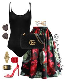 """""""Untitled #645"""" by redvelvetwithsprinkles ❤ liked on Polyvore featuring Chicwish, Gucci, Allurez, Christian Dior and Rolex"""