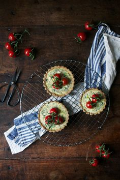 Our Food Stories' Gluten-Free Goat Cheese Quiche with Cherry Tomatoes. Try making this with our Ms. Natural by Cypress Grove Goat Cheese. For the recipe: http://www.ourfoodstories.com/2015/03/glutenfree-goatcheese-quiche-with.html.