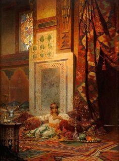 Duesseldorfer Auktionshaus Seel, Adolf 1829 Wiesbaden - 1907 Dillenburg Die Favoritin. Signiert. Datiert 1883. Öl auf Mahagoni, 98 x 72 cm