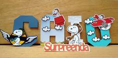Letras 3D Snoopy Aviador