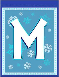 banner letter M Frozen Birthday Banner, Girl Birthday, Birthday Ideas, Banner Letters, Printable Letters, Alphabet And Numbers, Frozen Party, Disney Frozen, Party Planning