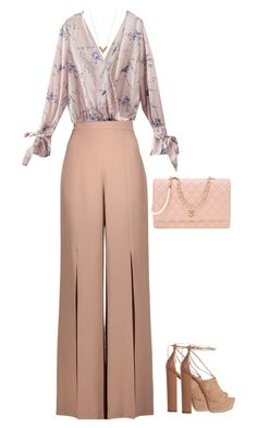 """""""Untitled #346"""" by tired-unicorn ❤ liked on Polyvore featuring Cushnie Et Ochs, Louis Vuitton, Aquazzura and Chanel"""