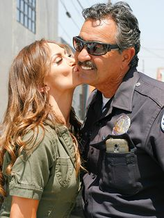 Star Tracks: Thursday, August 27, 2015 | SERVE & PROTECT | Dancing with the Stars pro Karina Smirnoff has no trouble with the law as she smooches a police officer while leaving a dance studio on Wednesday in L.A.