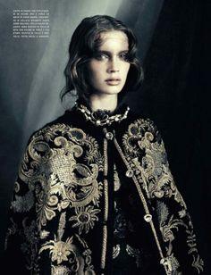 Marine Vacth by Paolo Roversi - Vogue Italia October 2012.
