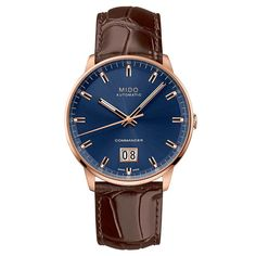 Mido - Commander Big Date | Time and Watches | The watch blog #mido Watch Blog, Sport Watches, Chronograph, Dating, Sporty, Big, Leather, Accessories, Clocks