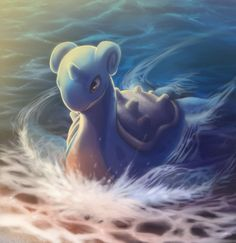 My Lapras, Coral. Coral is my second fav pokemon in all the world. We worked real hard to get to Level 100, but we did it! Coral has helped me beat the elite four AND the champion  countless times, and she's the best! Coral is really sweet, and she can almost read my mind everytime. Love my Coral to the max!