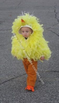 Homemade Big Bird Costume: Last year was the first real year I could take my little boy trick or treating. I wanted to make my very first attempt at making his costume myself. One